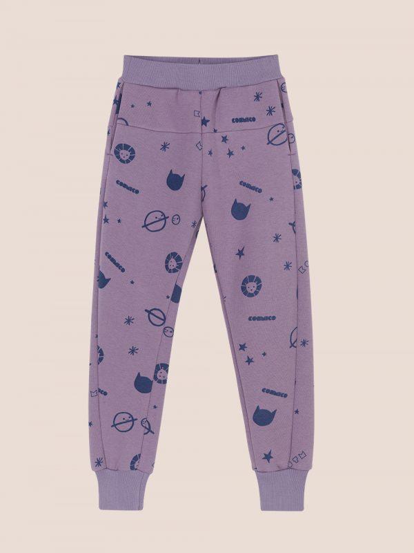 spodnie dresowe, dresy z nadrukiem, fioletowe dresy, purple joggers