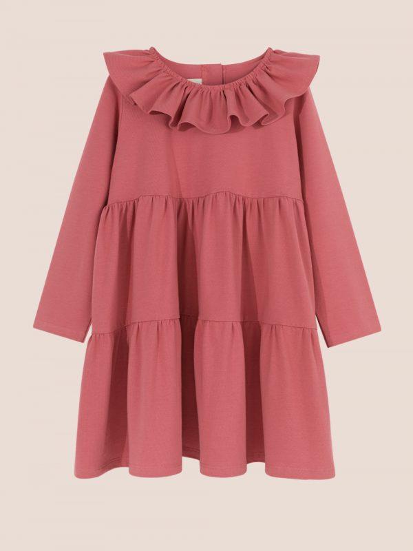 dzianinowa sukienka kaskadowa, cascade dress jersey
