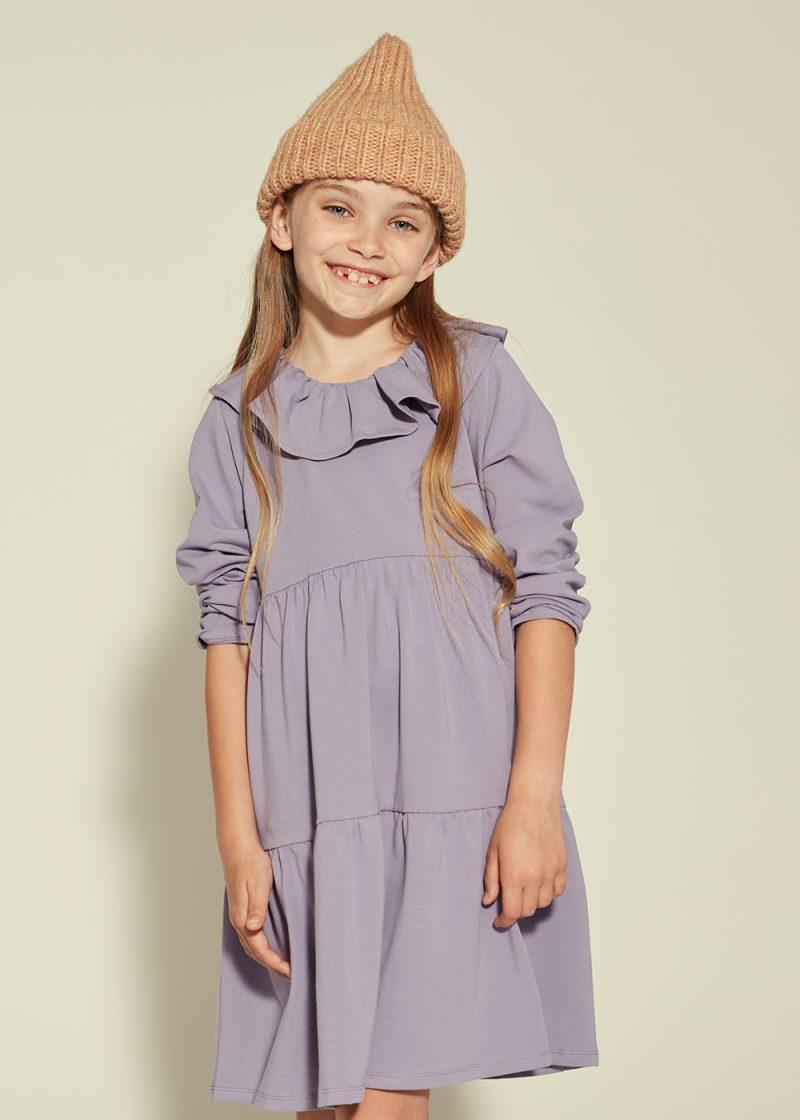 lawendowa sukienka z dzianiny, lavender dress
