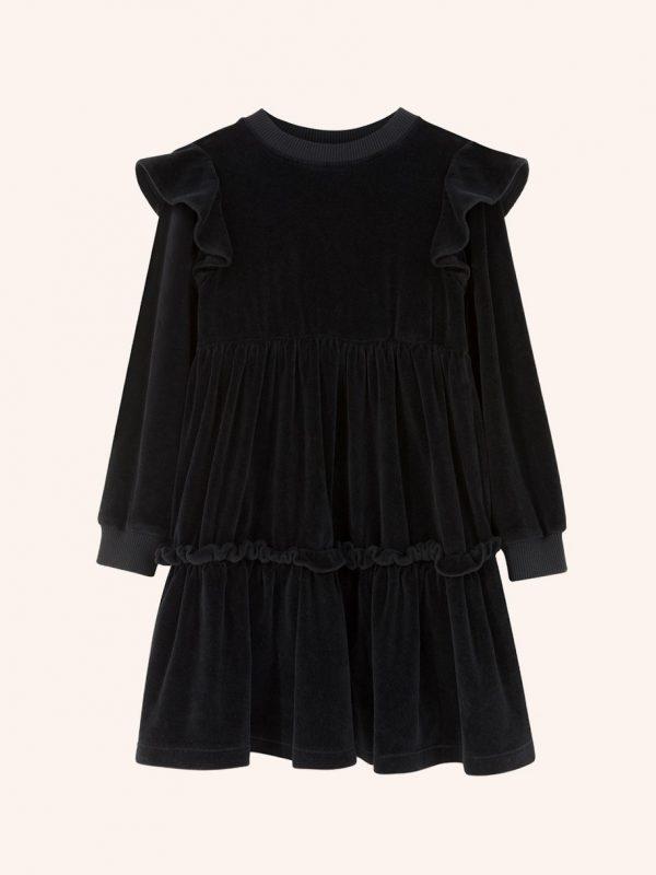 czarna welurowa sukienka, sukienka z czarnego weluru