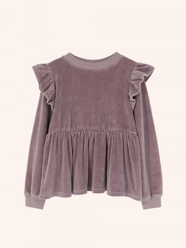 welurowa bluzka, welur bawełna organiczna